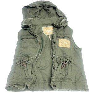 FREE PEOPLE | Army Green Hooded Vest